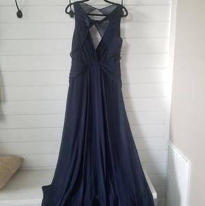 Badgley Mischka navy gown